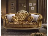 MobilPiu: Дукале: диван 3-х местный ткань кат. VIP (слоновая кость, золото)