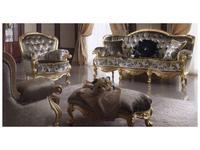 MobilPiu: Регина: диван 3-х местный ткань кат. VIP (серый, золото)