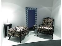 Zanaboni: кресло Luigi XV +пуф ткань кат.7
