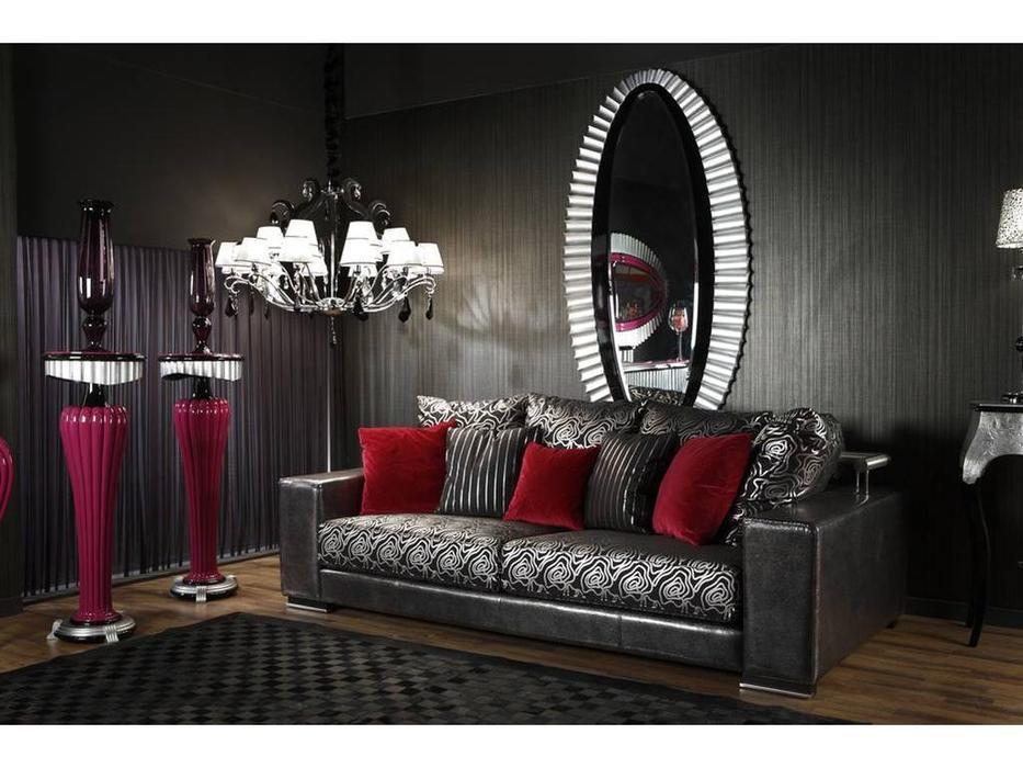 Tecni Nova: Glamour: диван 3-х местный  кожа, ткань