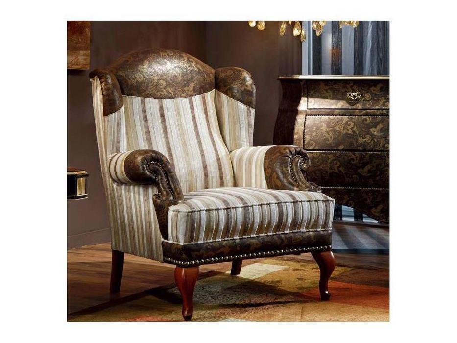 Techni Nova: Harmony: кресло ткань, кожа  (орех)
