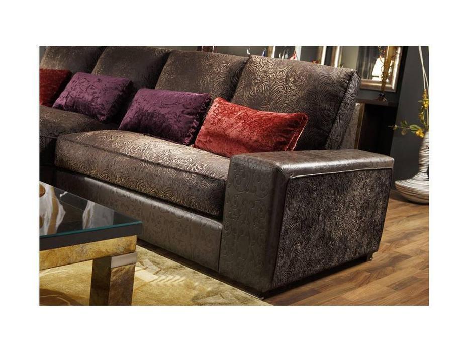 Tecni nova: Diamond: диван угловой  ткань Serie 9, кожа Serie 11