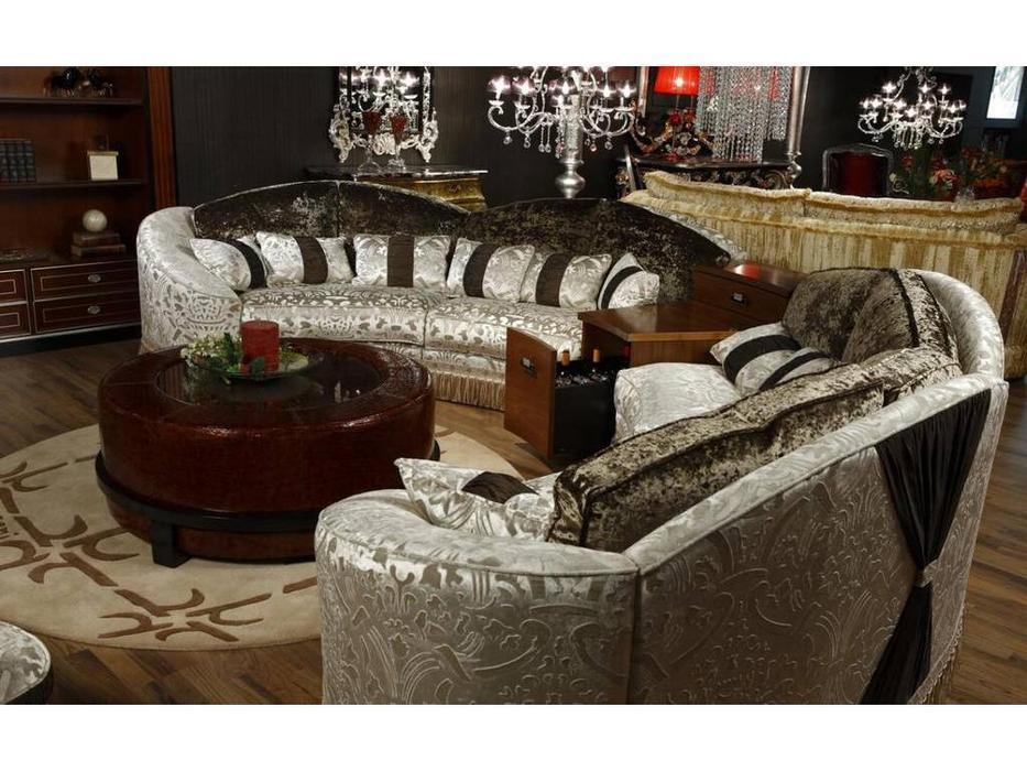 Tecni nova: Diamond: диван эркерный с баром ткань
