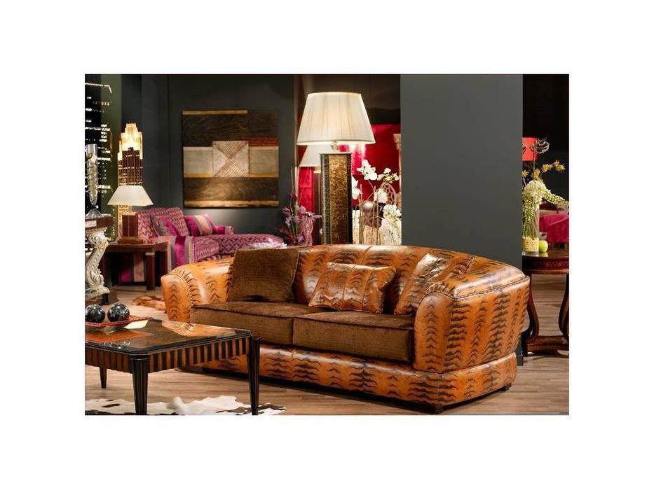 Tecni nova: Elegance: диван 3-х местный  (кожа Serie 20, ткань Serie 3)