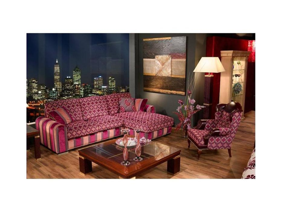 Tecni nova: Elegance: диван 3-х местный с шезлонгом  (ткань Serie 7)