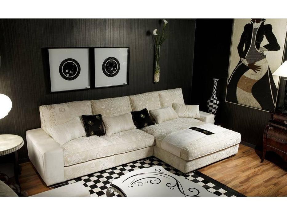 Tecni nova: Glamour: диван 3-х местный +шезлонг ткань