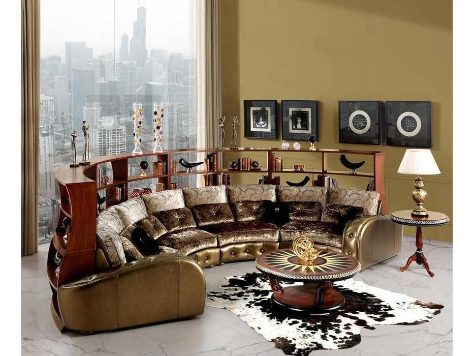 Tecni nova: Glamour: диван эркерный со стеллажом 3.03 ткань, кожа
