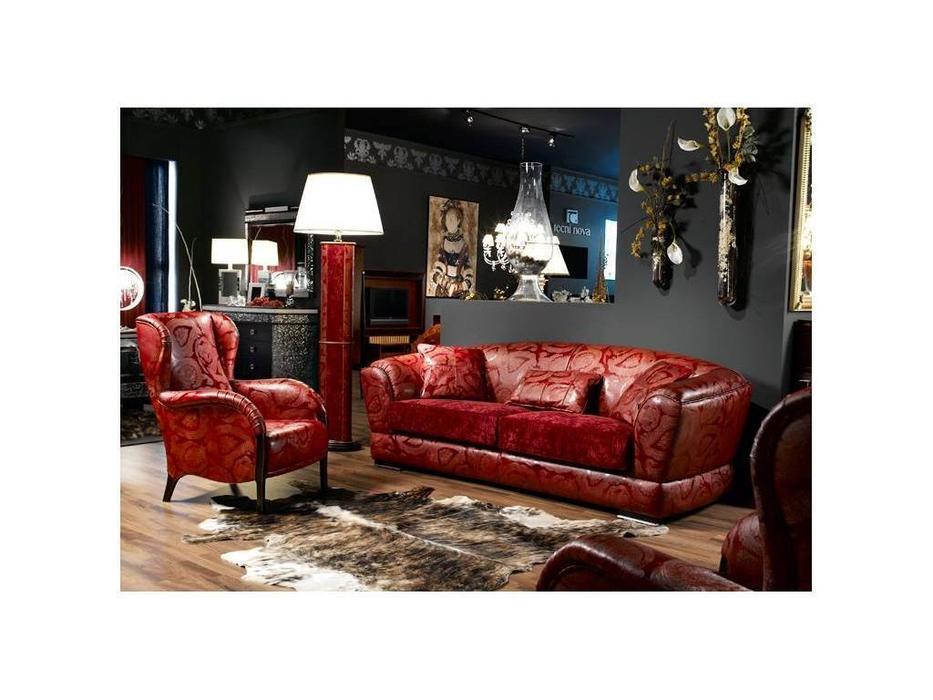 Tecni nova: Harmony: диван 3pl tela y piel, 1627 кресло