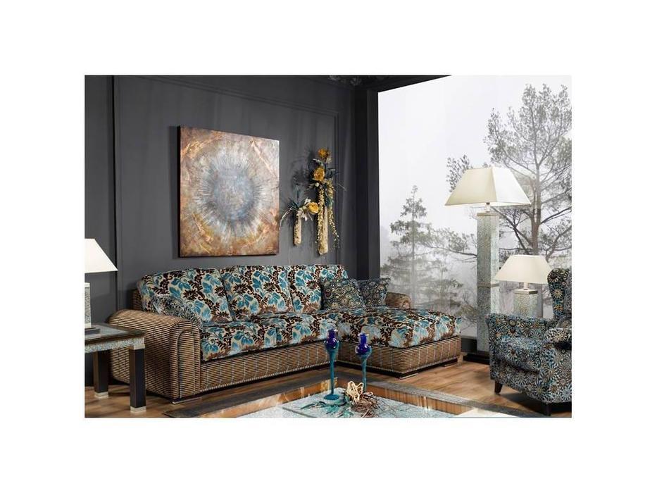 Tecni nova: Harmony: диван 3-х местный 2,05 m + шезлонг ткань