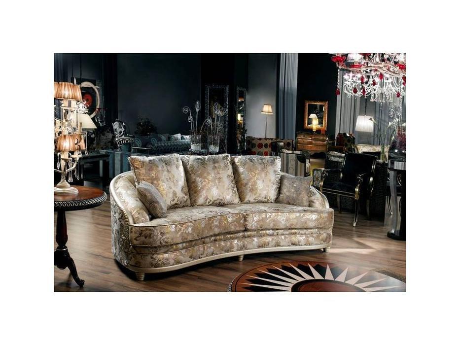 Tecni nova: Harmony: диван 3-х местный ткань (платина, золото)