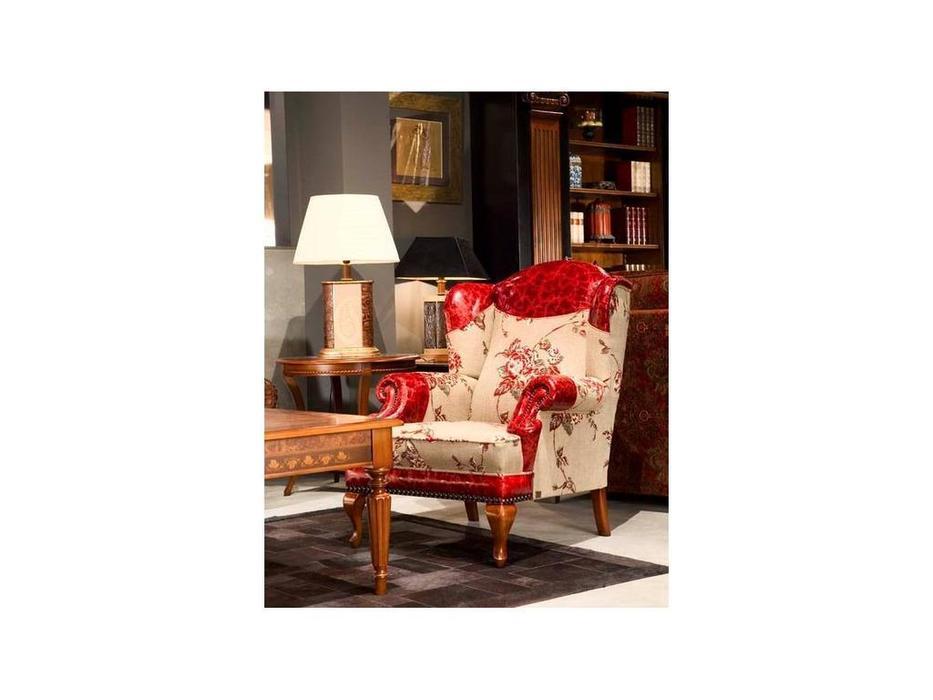 Tecni nova: Luxury: кресло ткань, кожа FM05