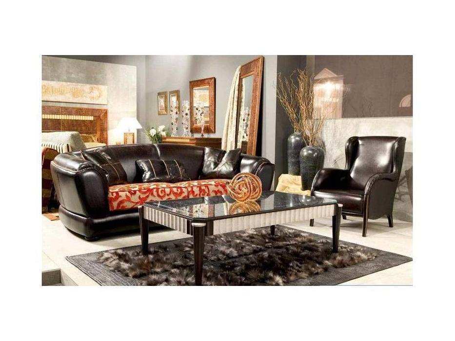 Tecni nova: Luxury: диван 3-х местный ткань, кожа