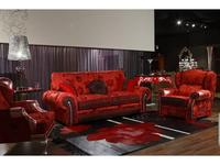 Tecni Nova: Glamour: диван 3-х местный  ткань, det. Swarovski