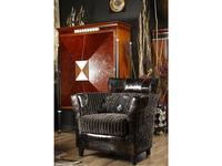 Tecni nova: Diamond: кресло  (ткань Serie 7, кожа Serie 18)