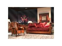 Tecni nova: Elegance: диван трехместный  (ткань Serie 4, кожа Serie 19)