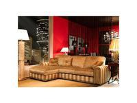 Tecni nova: Elegance: диван 3-х местный с шезлонгом  (ткань Serie 9)