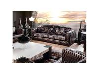 Tecni nova: Harmony: диван 3-х местный ткань Flores rotas 2,30 м