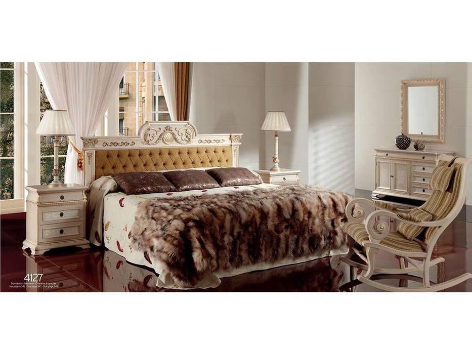 Techni Nova: кровать 150х200 (белый, золото)