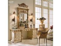 Techni Nova: стол туалетный (белый, золото)