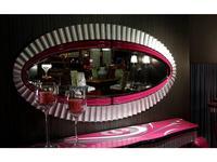 Tecni nova: Diamond: зеркало настенное  (розовый, серебро)