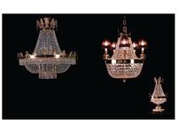 Zanaboni: люстра хрустальная  подвесная с абажурами