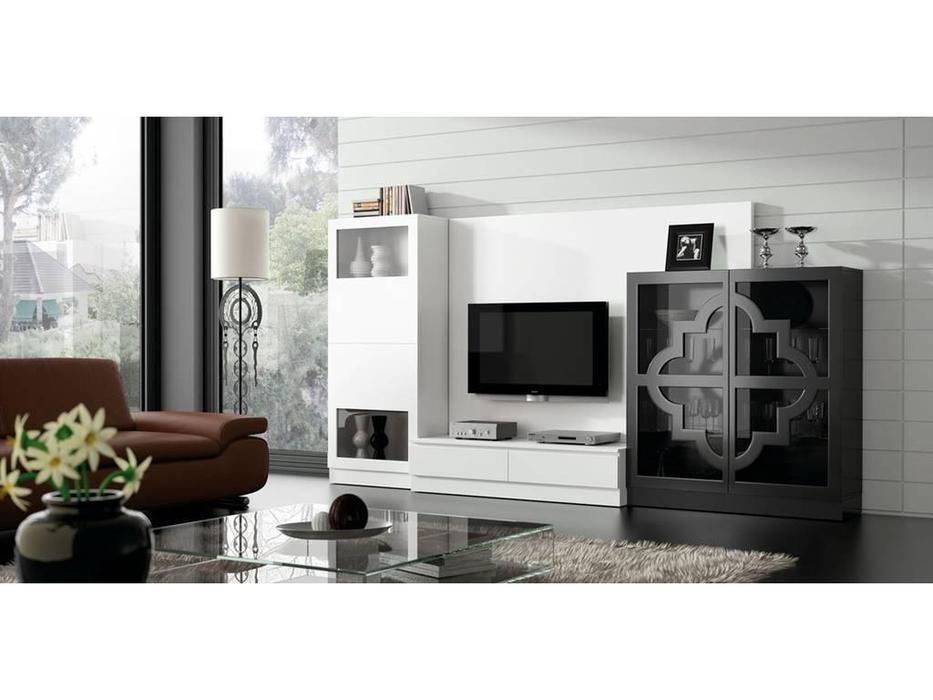 Coim: Lucrecia in love: стенка в гостиную  (белый, черный)