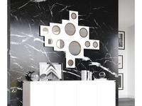 Coim: Marcuise: зеркало навесное  Yoko (lacado blanco brillo, cobre)