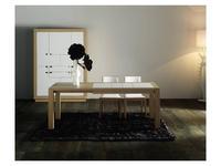Coim: Futurama: стол обеденный  раскладной (дуб, кожа)