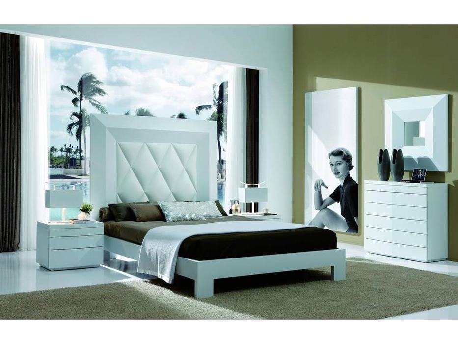 Coim: Gordon: кровать 150х190  (белый, кожа белая)