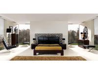 Coim: Cassandra: кровать 160х200  (орех, черное стекло)