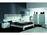Coim: Cassandra: кровать 180х200  (белый, белая кожа)