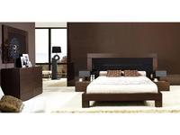 Coim: Sheraton Rex: кровать 180х200  (орех, черное стекло)