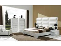 Coim: Abba: кровать 160х200  (белый, белая кожа)