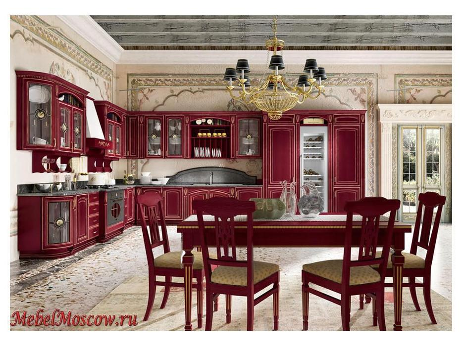 Home Cucine: кухня Gold Elite (красный золотистый)