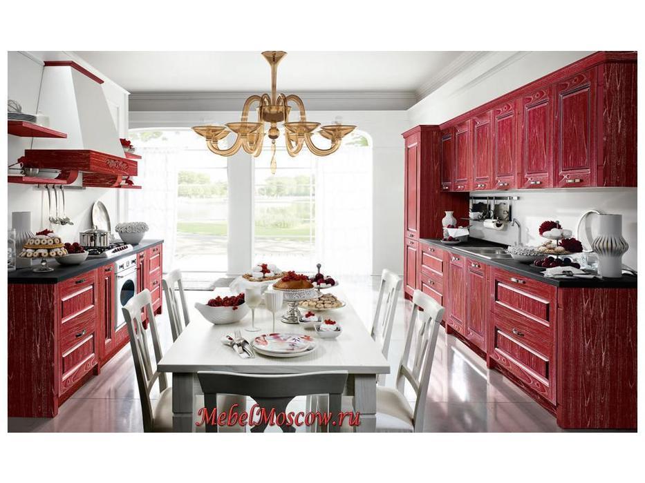 Home Cucine: кухня Contea (бордовый декапе)