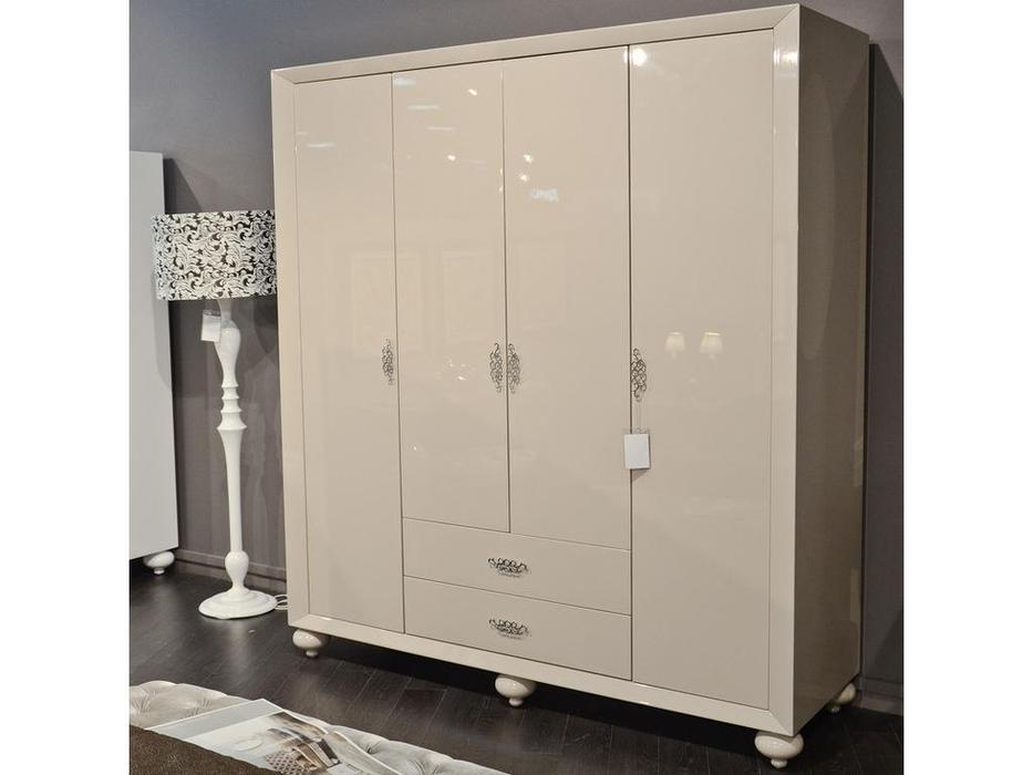 Fratelli Barri: Palermo: шкаф 4-х дверный  лак (белый)