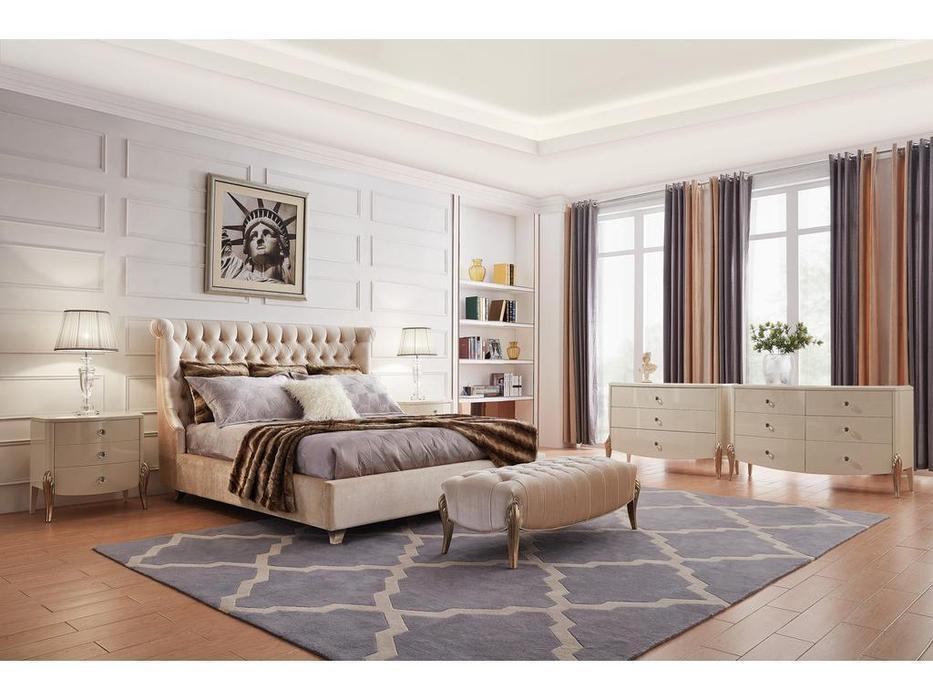 Fratelli Barri: Roma: кровать 200х200  (бежевый)