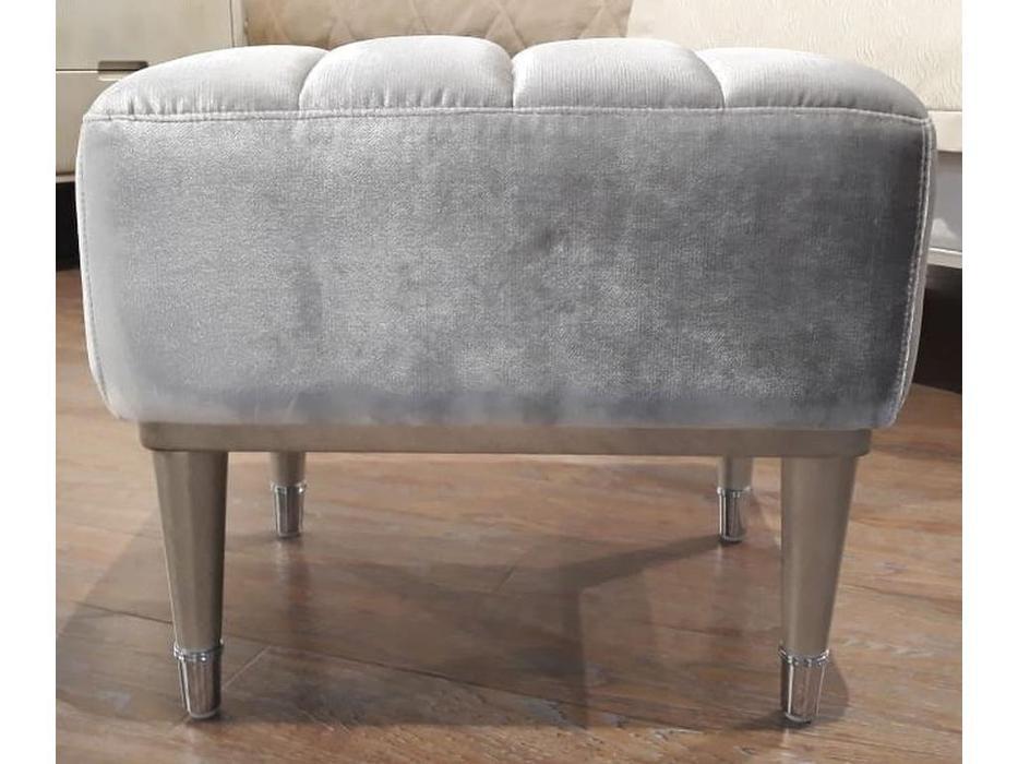 Fratelli Barri: Rimini: пуф  ткань серебристо серый велюр (Moki-51) (серебро 116)
