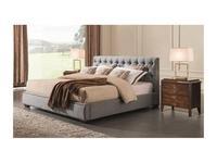 Fratelli Barri: Mestre: кровать 180x200  ткань (серо-голубая рогожка)