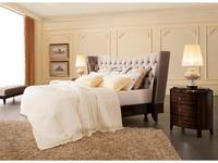 Fratelli Barri: Mestre: кровать 180x200  ткань велюр (серебристо-серый)