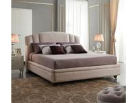Fratelli Barri: Rimini: кровать 180х200  ткань (бежевый, белый лак)