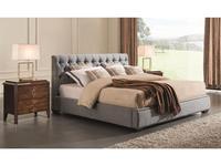 Fratelli Barri: Mestre: кровать  160x200 (серо-голубая рогожка)