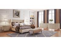 Fratelli Barri: Roma: спальная комната (бежевый лак, сусальное серебро)