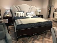 Fratelli Barri: Rimini: кровать 180x200  ткань Jeanie-93 (шпон вишни)