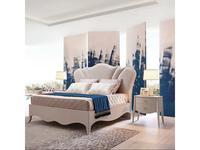 Fratelli Barri: Rimini: кровать 180x200  ткань Jeanie-02 (бежевый матовый лак)