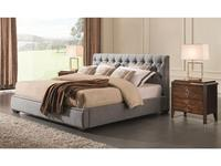 Fratelli Barri: Mestre: кровать 200x200  (серо-голубая рогожка)