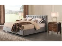 Fratelli Barri: Mestre: кровать 180х200  (серо-голубая рогожка)