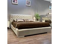 Fratelli Barri: Roma: кровать  180х200 ткань ANYZO-94 (белый глянцевый лак)