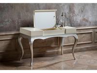 Fratelli Barri: Venezia: стол туалетный  (кремовый лак, серебро)