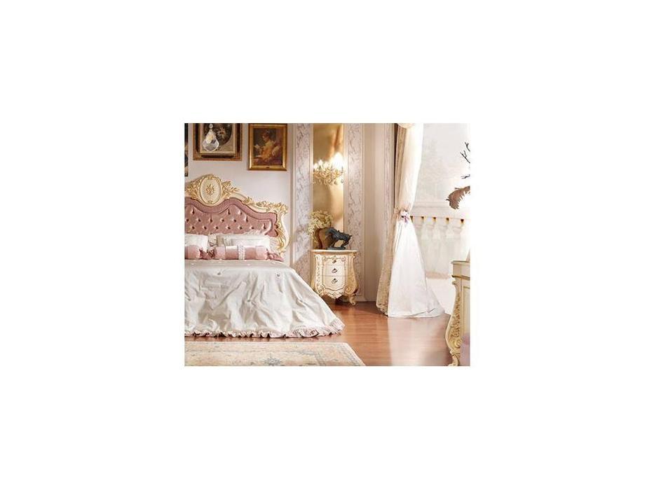 Barnini Oseo: Firenze: тумба прикроватная  белый с золотым украшением